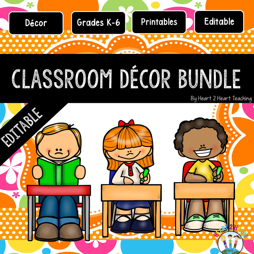 Orange and Lime Green Classroom Decor Pack #4: Everything You Need to Set up Your Classroom