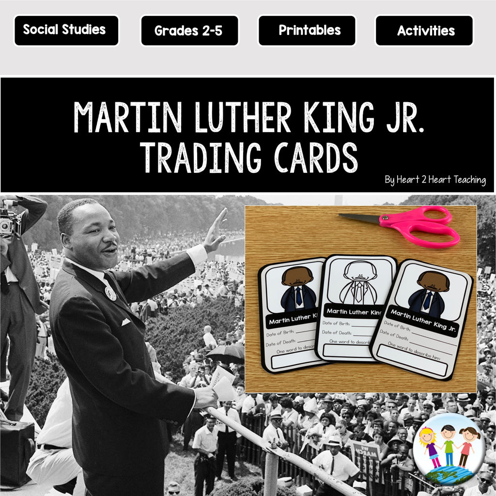 Martin Luther King Day Activities: Create a Trading Card