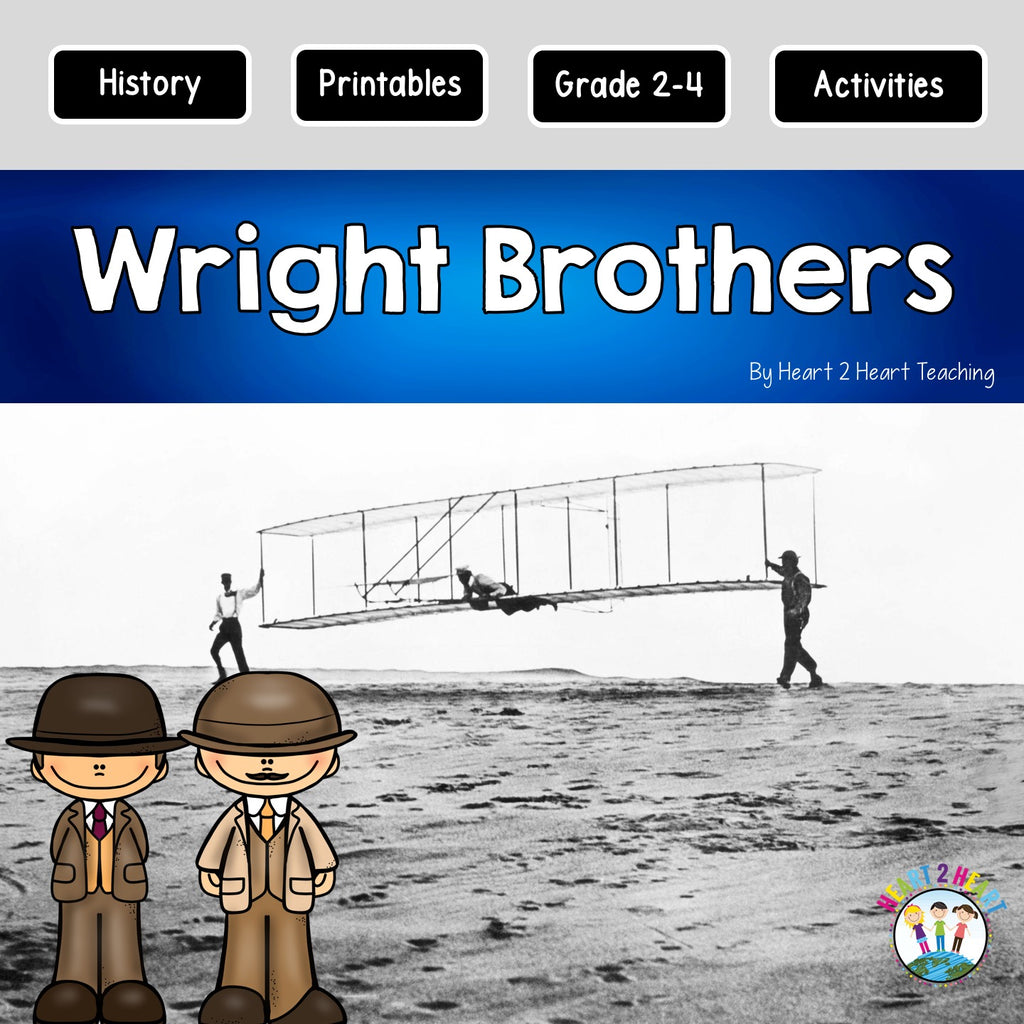 The Wright Brothers: Unit with Articles, Activities, Vocabulary & Flip Book