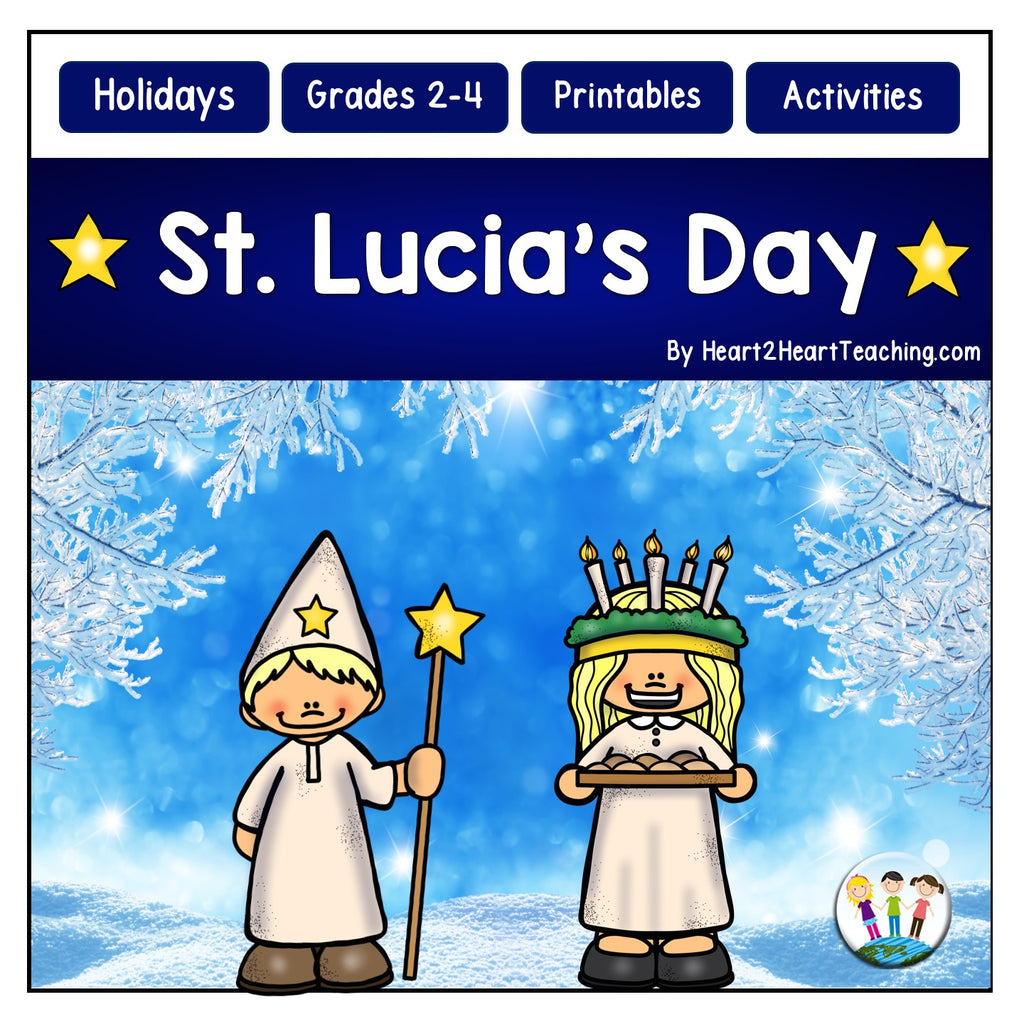 Christmas in Sweden: St. Lucia's Day Activities and Flip Book