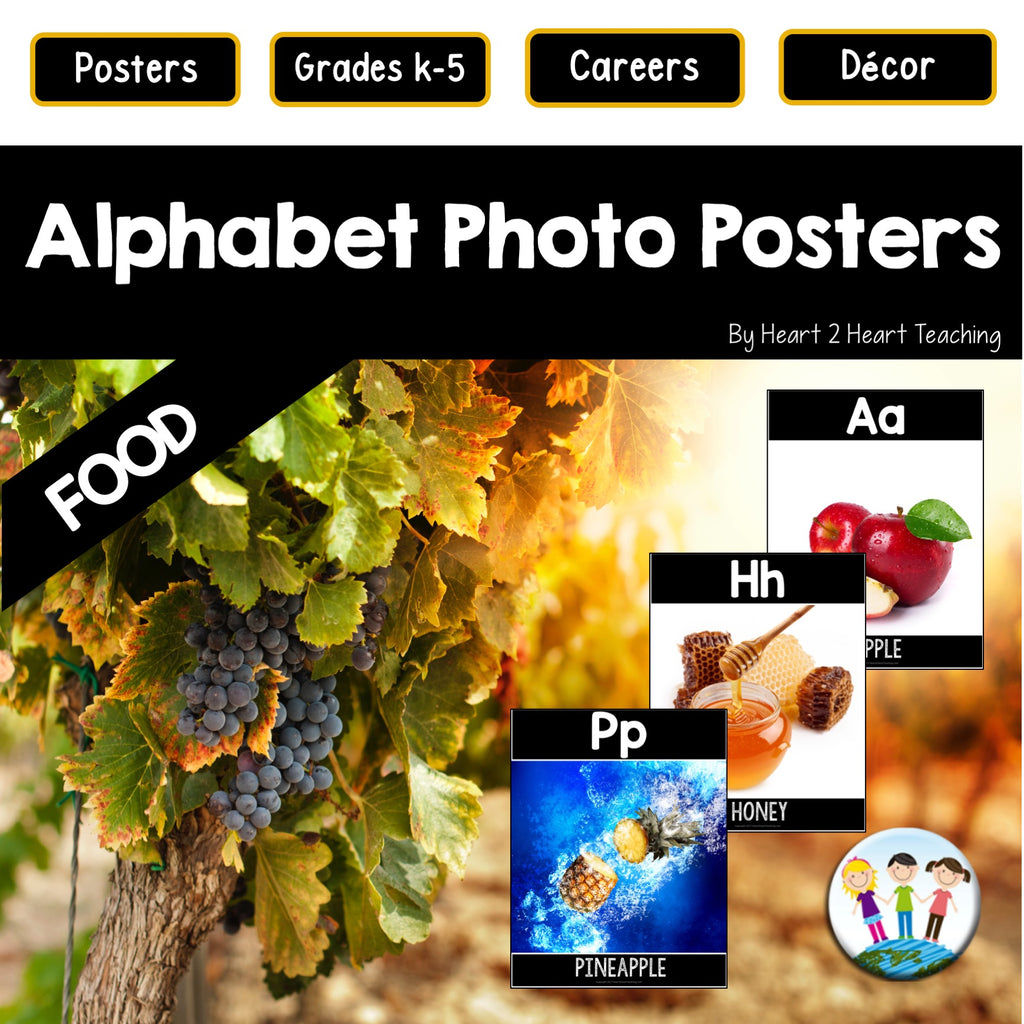 Alphabet Posters: Healthy Foods (A to Z)