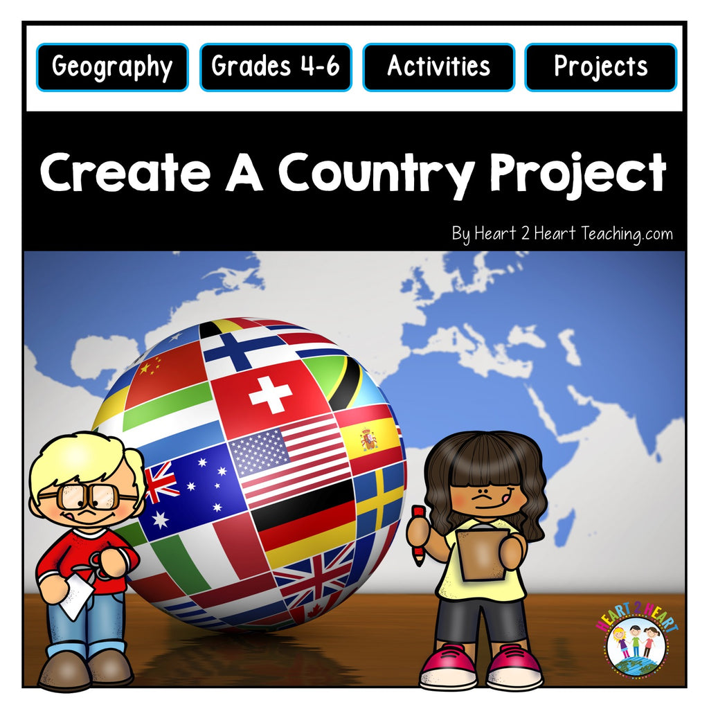 End of the Year Activities: Create A Country Project (Geography & Map Skills)