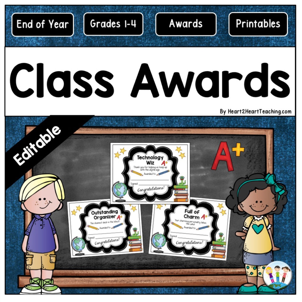 Character Trait Class Awards: A Fun End of the Year Activity