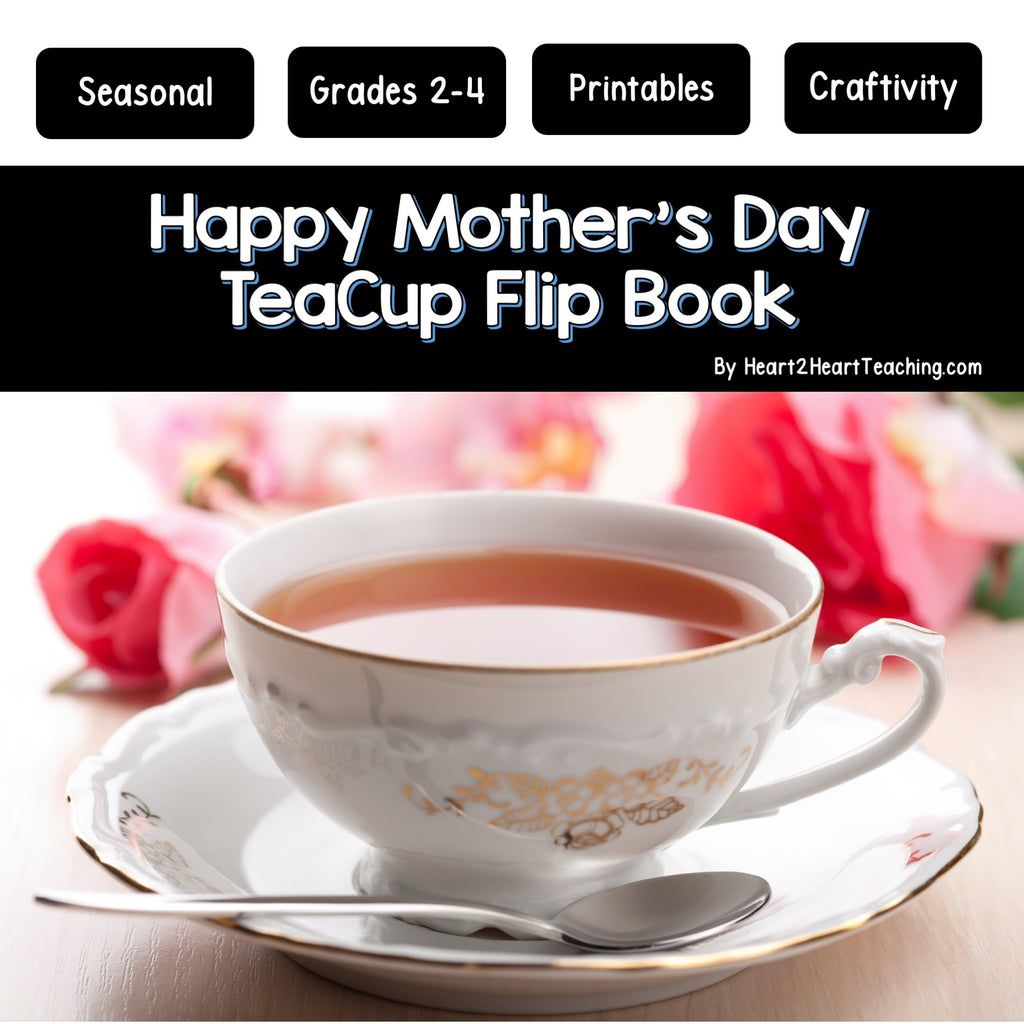 Happy Mother's Day Teacup Flip Booklet