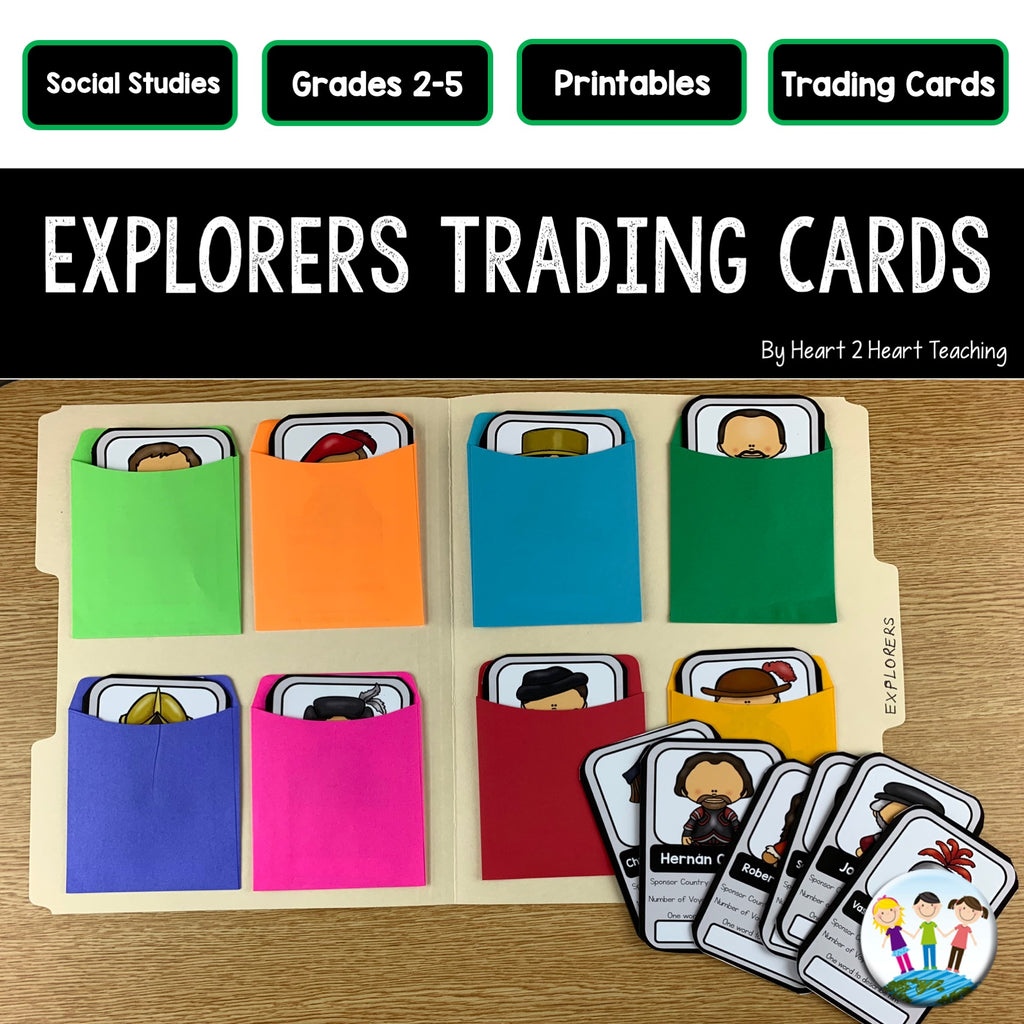 Early Explorers Project: Create Your Own Trading Cards (24 Explorers Cards)