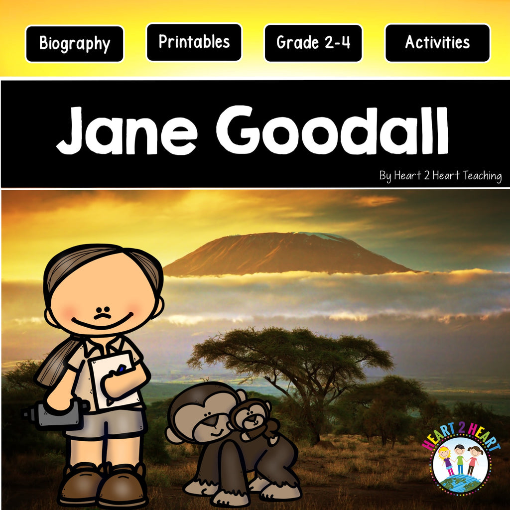 The Life Story of Jane Goodall Activity Pack