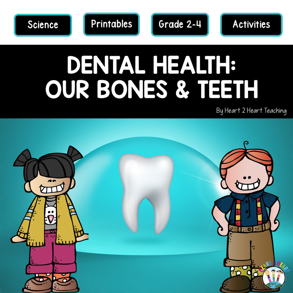 Dental Health Month Activities: Our Bones & Teeth, and the Parts of a Tooth
