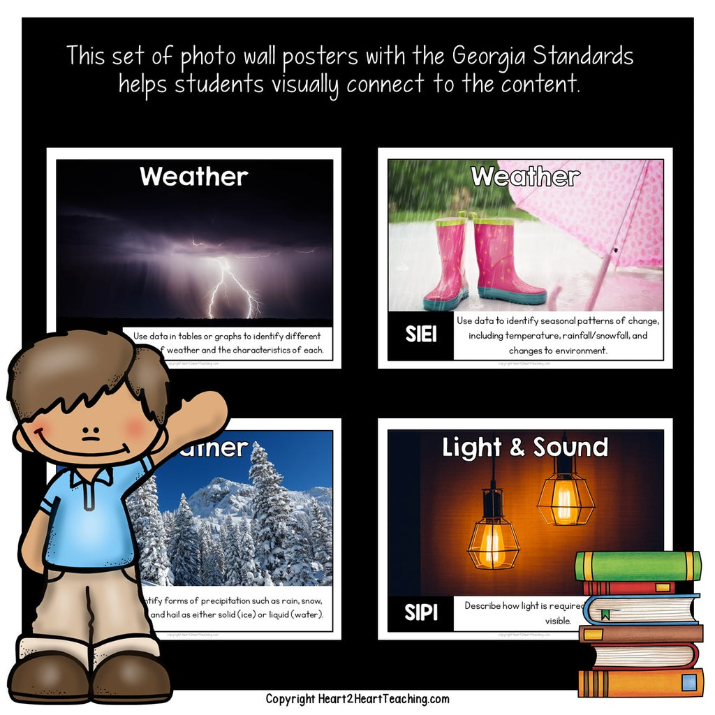 Georgia Standard of Excellence 1st Grade Science Posters