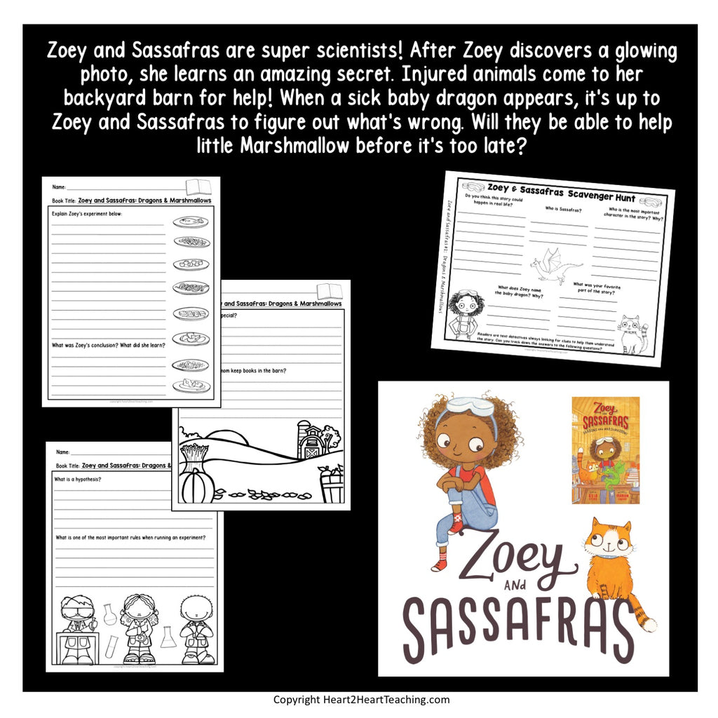 Zoey and Sassafras: Dragon & Marshmallows Freebie