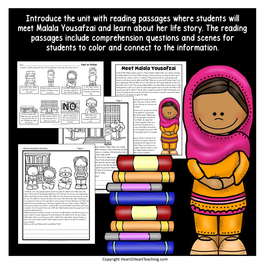 The Life Story of Malala Yousafzai Activity Pack