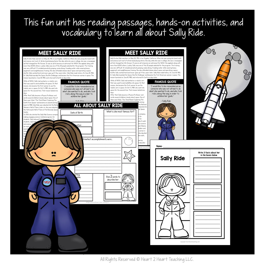 The Life Story of Sally Ride Activity Pack