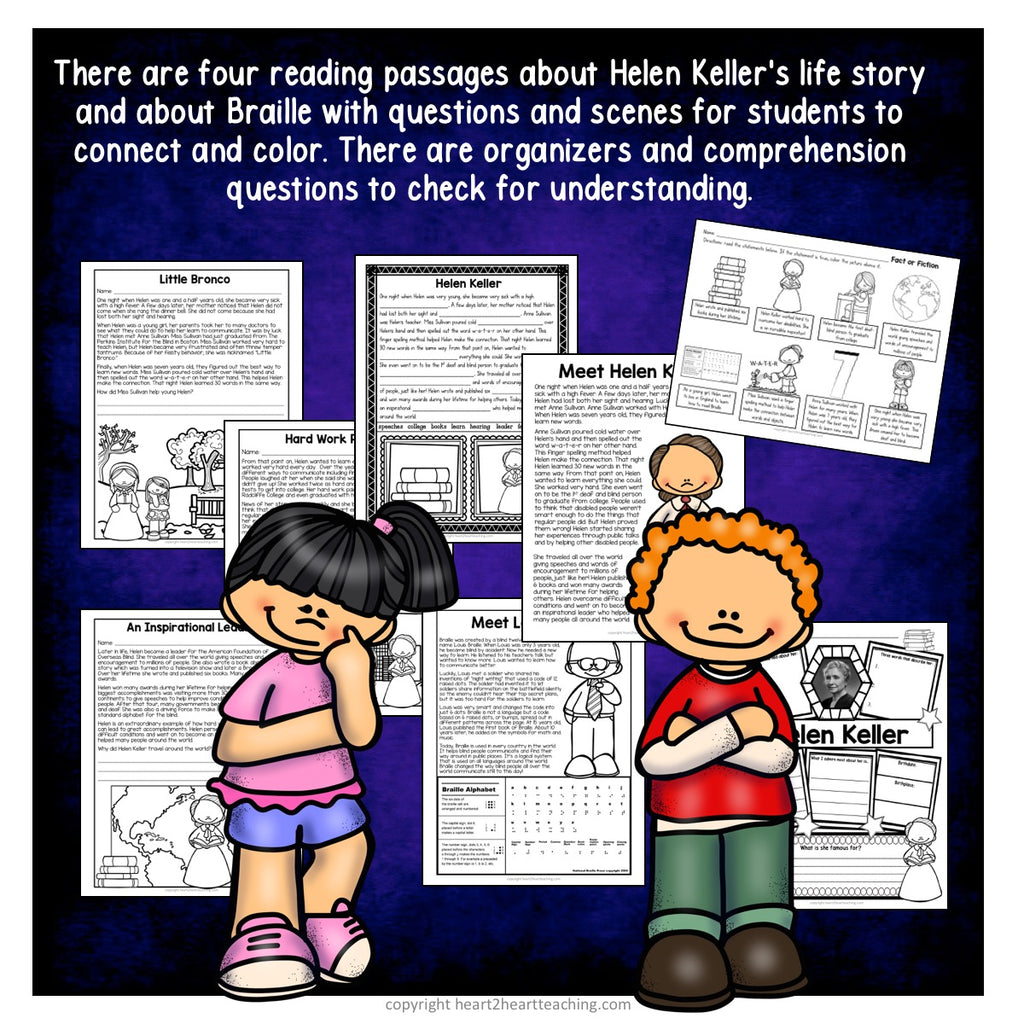 The Life Story of Helen Keller Activity Pack
