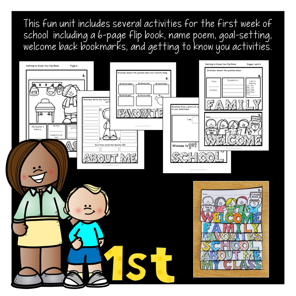 First Week of School Activities for 1st Grade