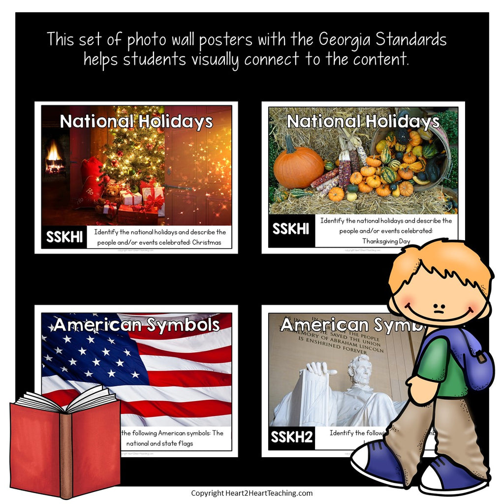 Georgia Standards of Excellence Kindergarten Social Studies Posters