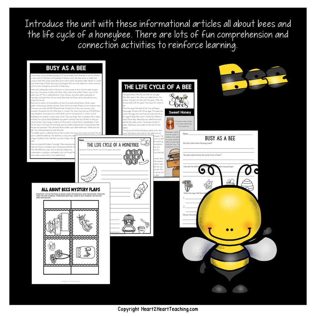 Bees and Pollination Activity Pack