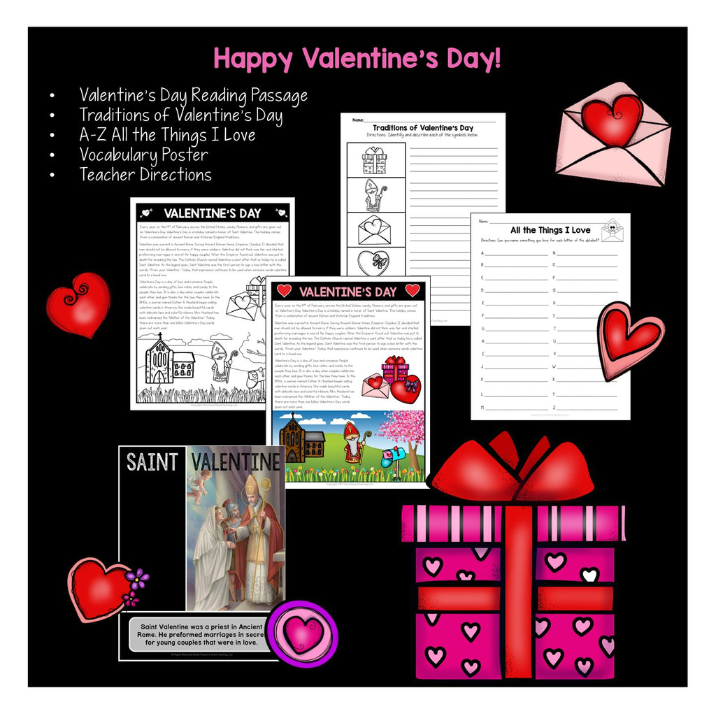 History and Tradition of Valentine's Day Activity Freebie