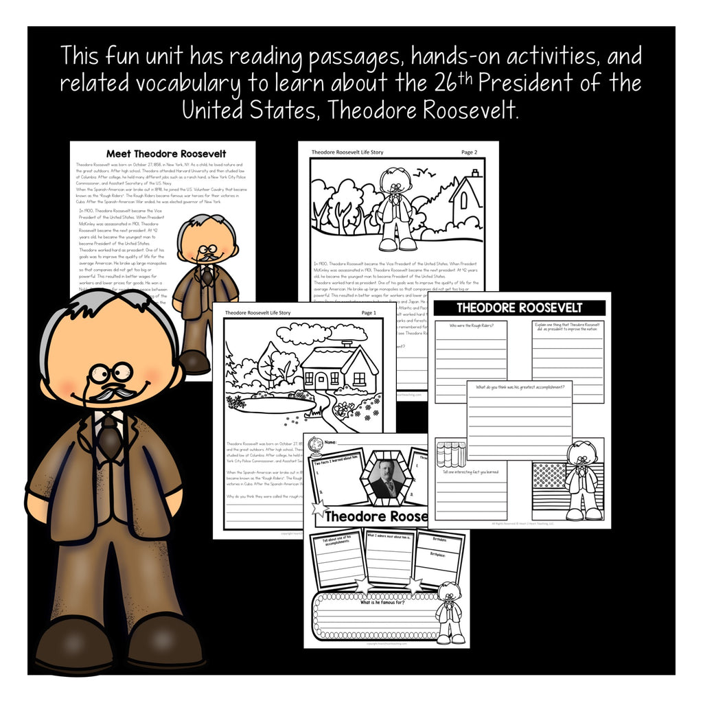 The Life Story of Theodore Roosevelt Activity Pack