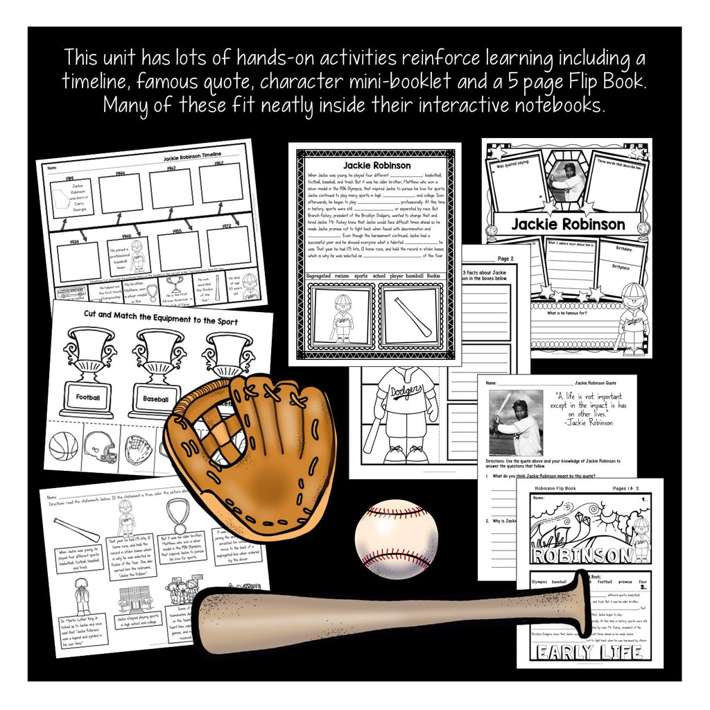 The Life Story of Jackie Robinson Activity Pack