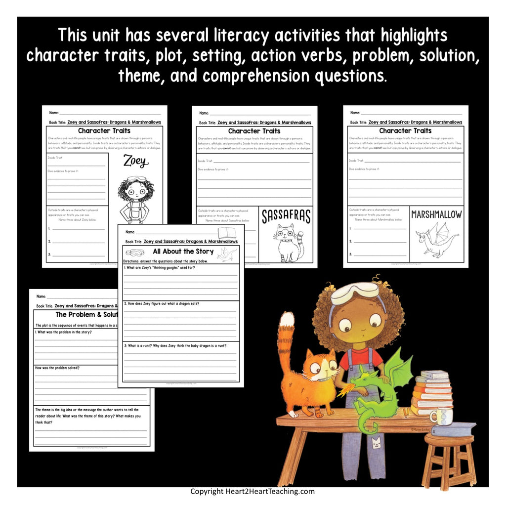 Dragons & Marshmallows: Zoey and Sassafras Book #1 Activity Pack