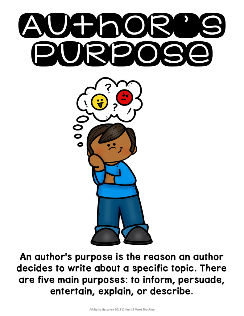 Author's Purpose Posters Freebie