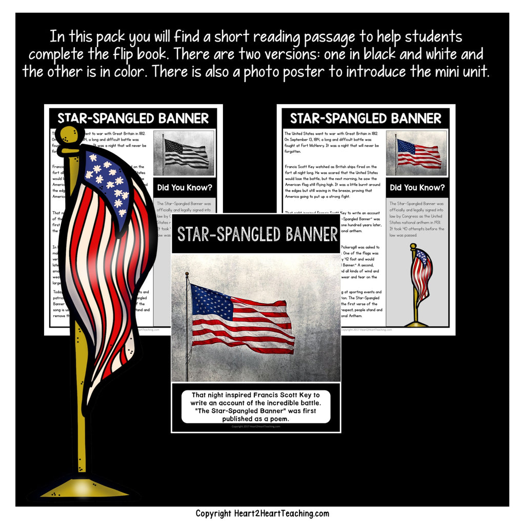 The Star-Spangles Banner Mini-Unit with Flip Book