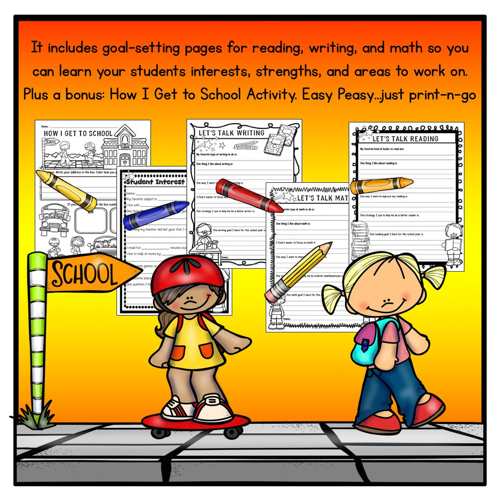Goal-Setting Activities For the First Week of School {Grades 2-4}