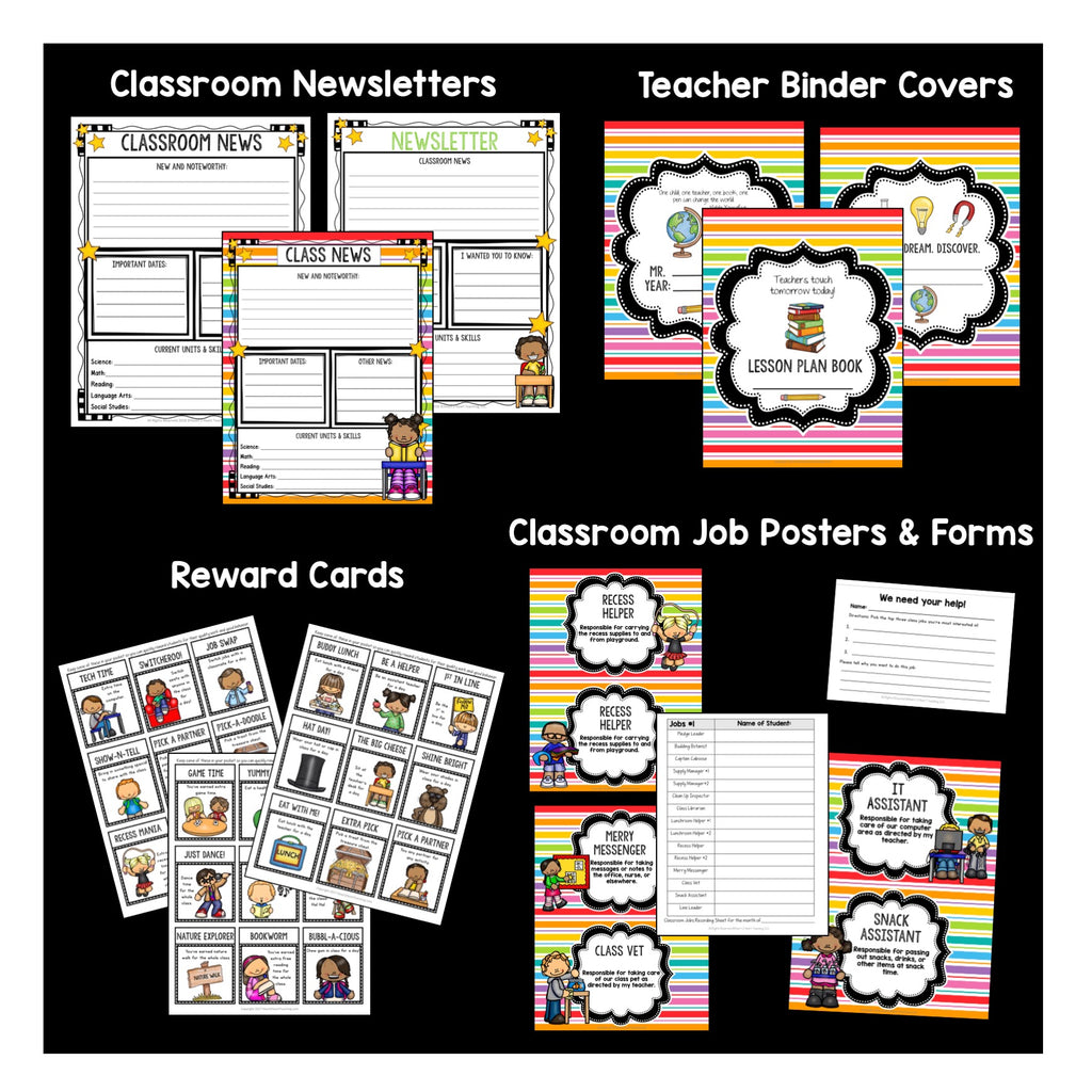 All the Colors of the Rainbow Classroom Decor Pack #5: