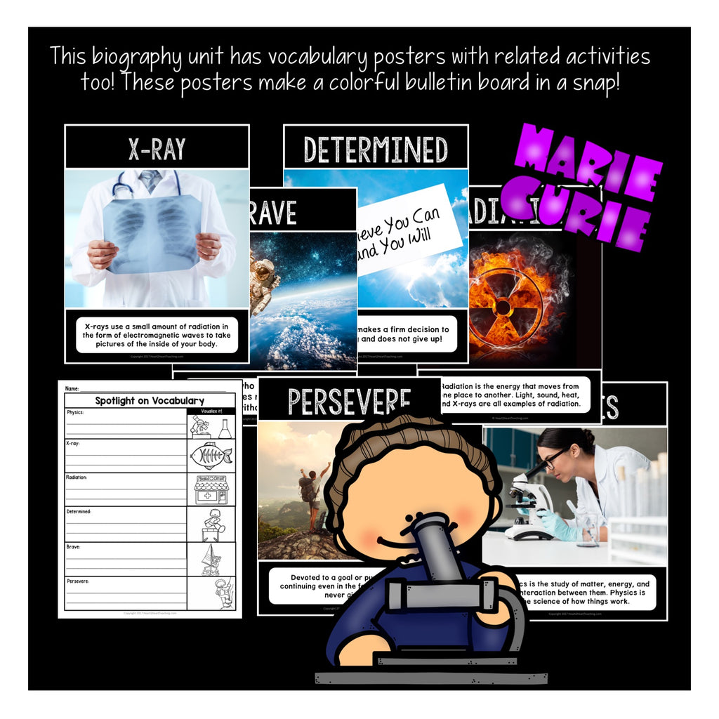 The Life Story of Marie Curie Activity Pack