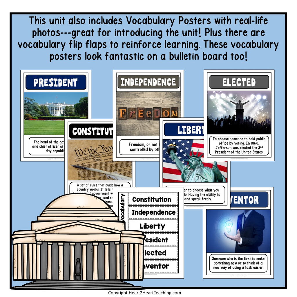 The Life Story of President Thomas Jefferson Activity Pack