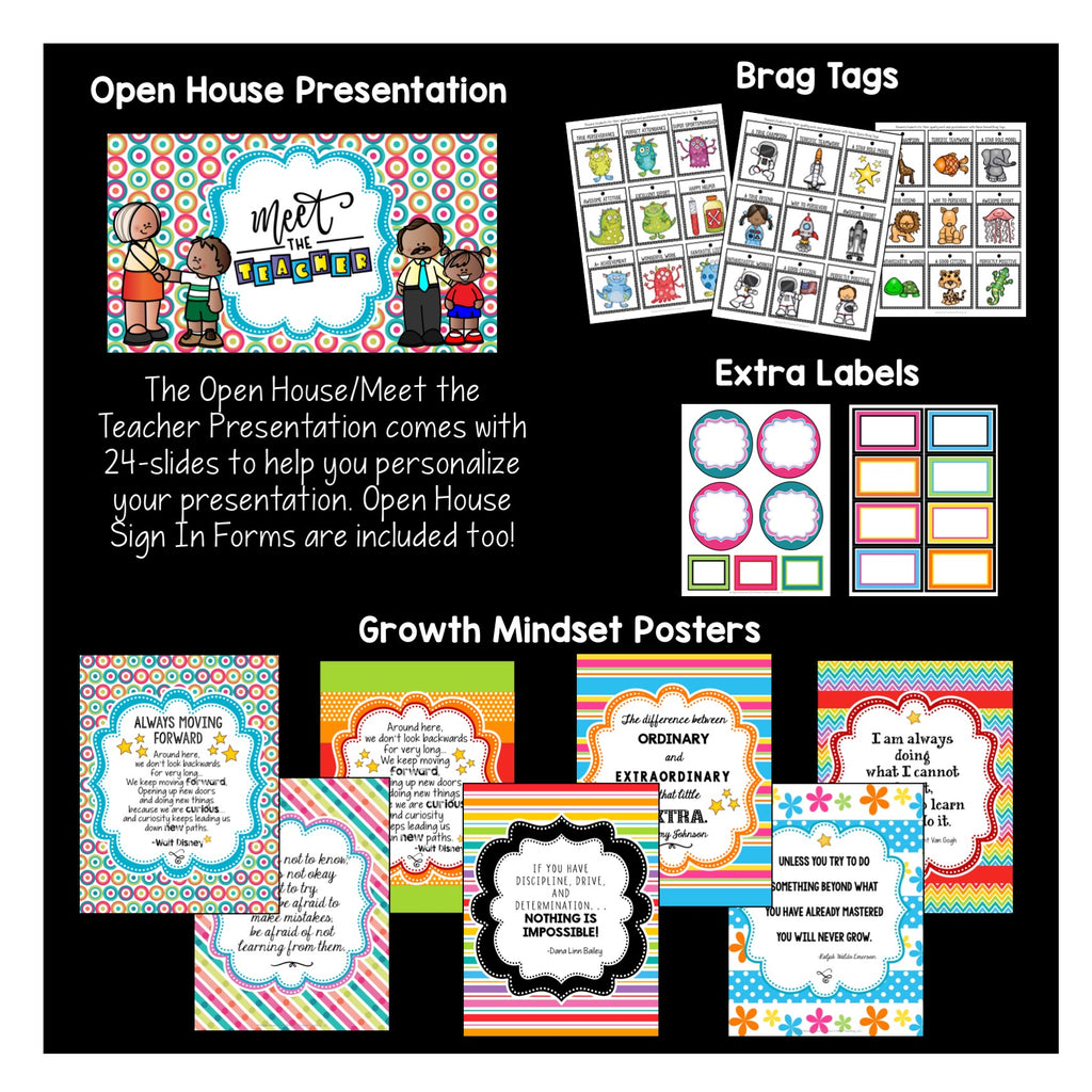 Turquoise, Purple, and Pink Dots Classroom Decor Pack #16: Everything You Need to Set up Your Classroom