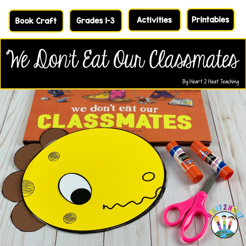 We Don't Eat Our Classmates Activity Pack and Dinosaur Craft