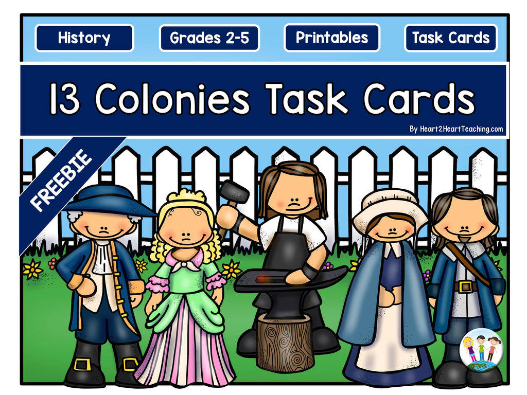 13 Colonies Task Cards Freebie