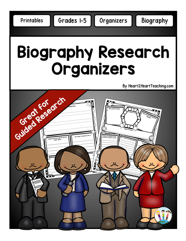 Biography Research Organizers Freebie