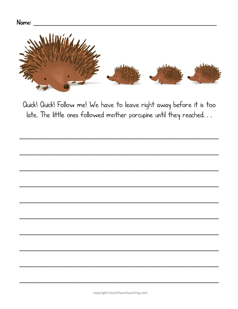 Spring Story Starters Writing Prompts Freebie