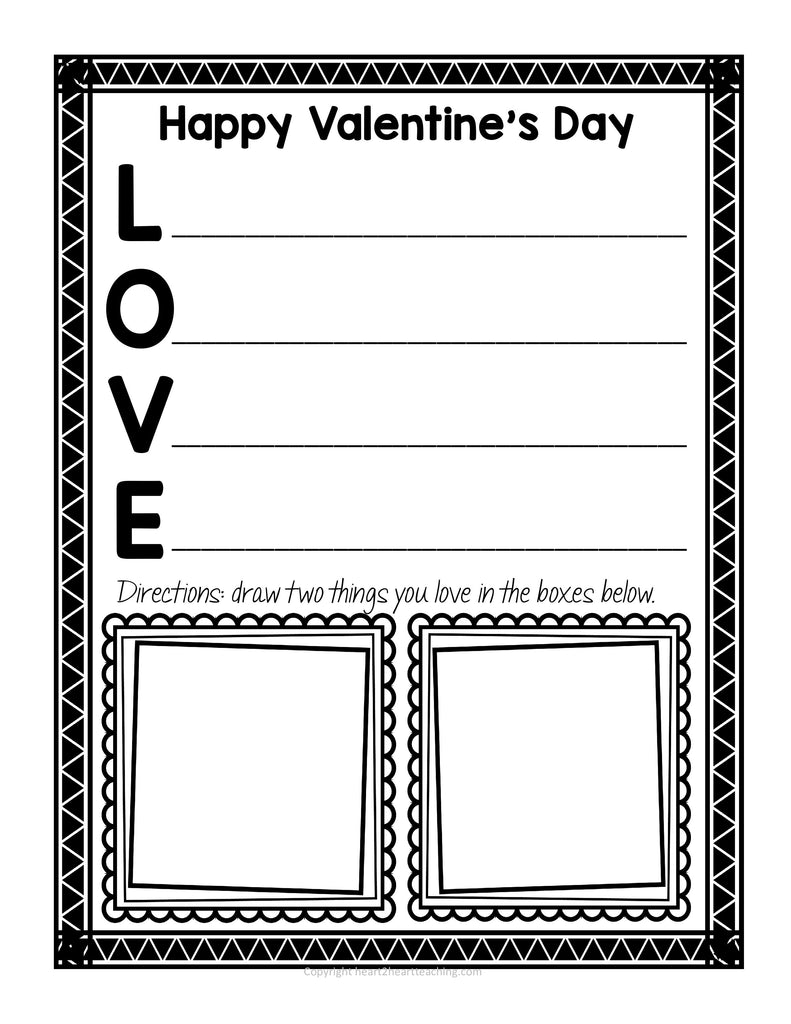 Valentine's Day Activities Freebie