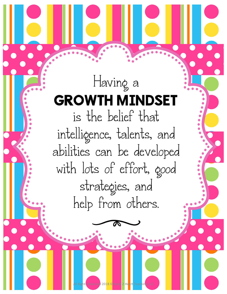 Growth Mindset Poster Pack Freebie
