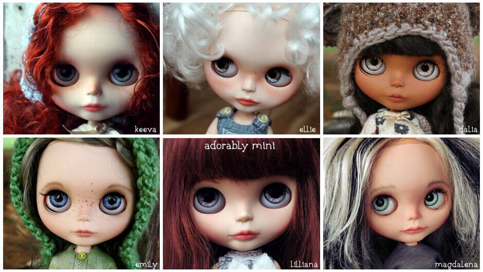 Blythe Dolls Made by Adorably Mini