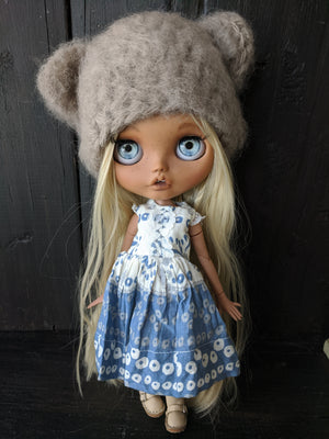 Blythe Doll Dress and Fuzzy Bear Hat