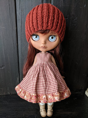 Blythe Doll Dress and Beanie Set