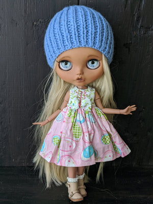 Blythe Dress and Knit Beanie Set