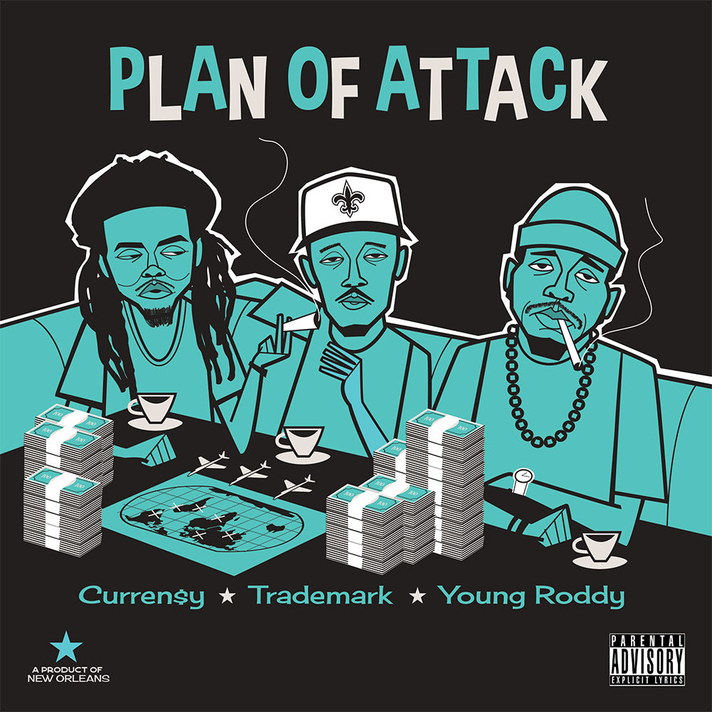 Curren$y, Trademark & Young Roddy - Plan of Attack - Vinyl LP