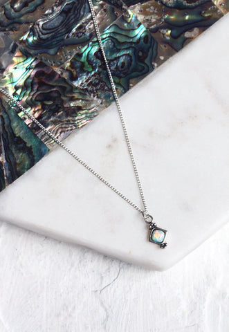 LAYLA. Delicate Gold North Star Pendant Necklace