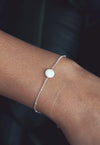 OLIVIA. White Opal Gold Filled Bracelet