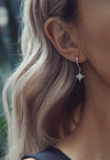 DARA. Gold Tiny Opal Stud Earrings