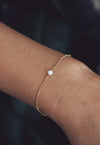 LYDIA. White Opal Gold Filled Bracelet