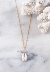CASA. Cowrie Shell Pendant Necklace in Gold Filled