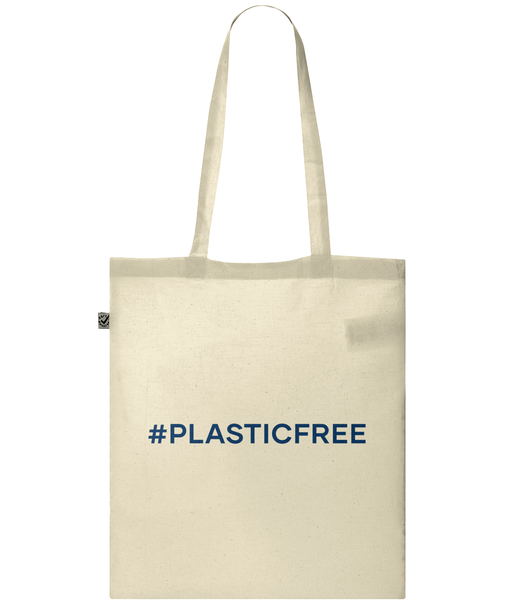 #PlasticFree Organic 100% Cotton Tote Bag