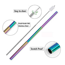 Load image into Gallery viewer, Special Edition Rainbow Travel Metal Straw