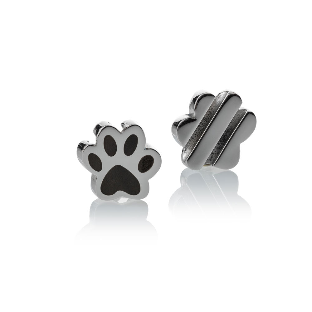 Charm silver stainless steel paw large Brappz USA Canada SKU# 7640174310883 brappz.co Brappz multi-purpose silicone jewelry USA
