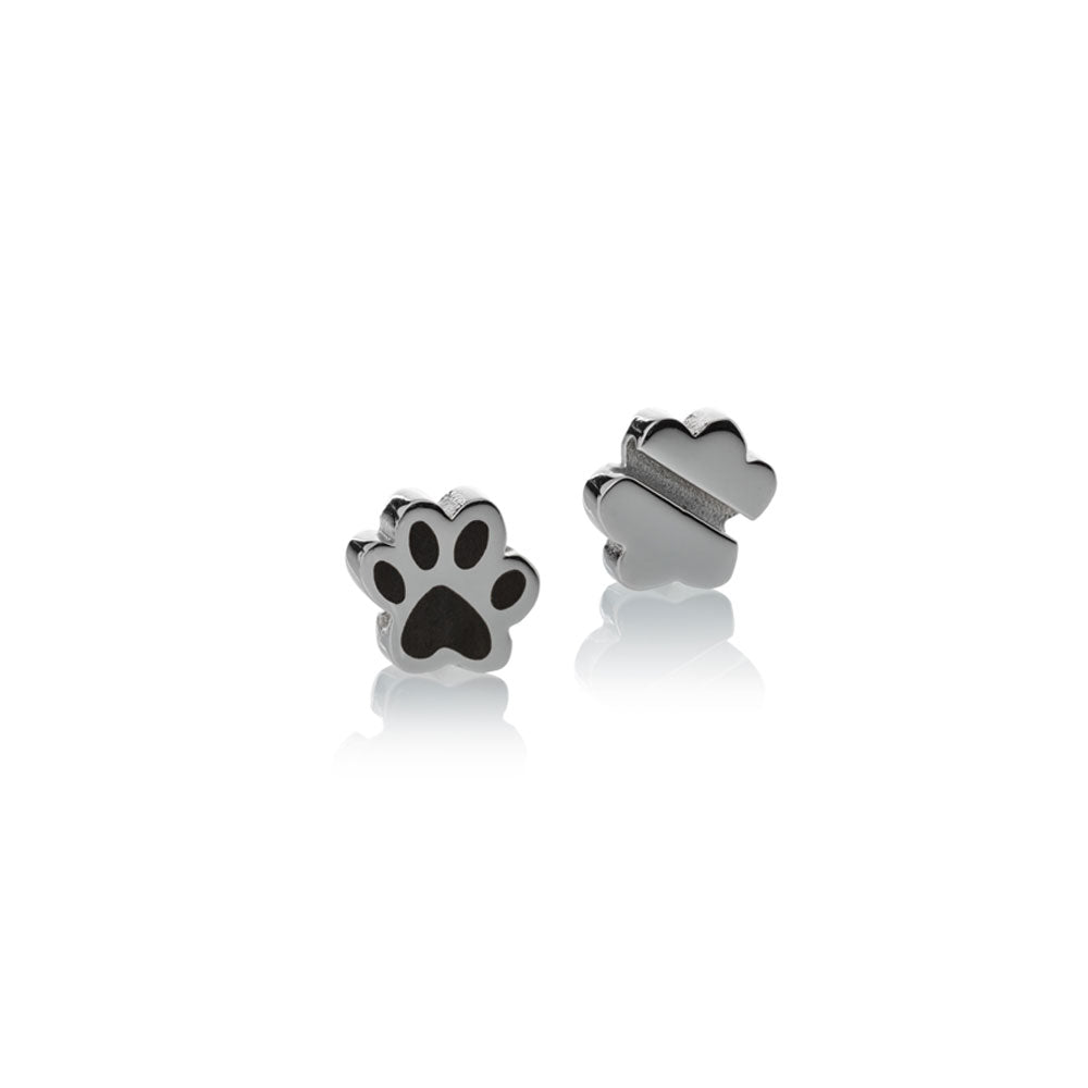 Charm silver stainless steel paw small Brappz USA Canada SKU# 7640174310890 brappz.co Brappz multi-purpose silicone jewelry USA